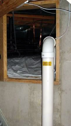 Mold in home made radon mitigation